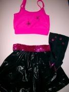 pink-fekete fellépő ruha
