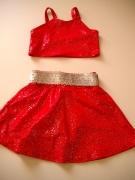 piros fellépő ruha